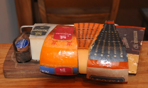 Different Reypenaer cheeses to sample.