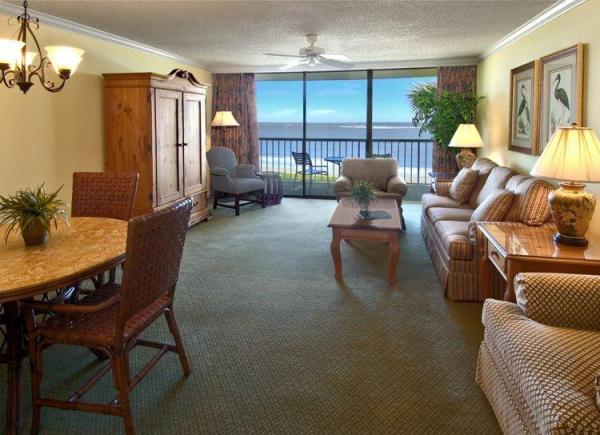 Living room of an oceanfront villa. Photo courtesy of the resort.
