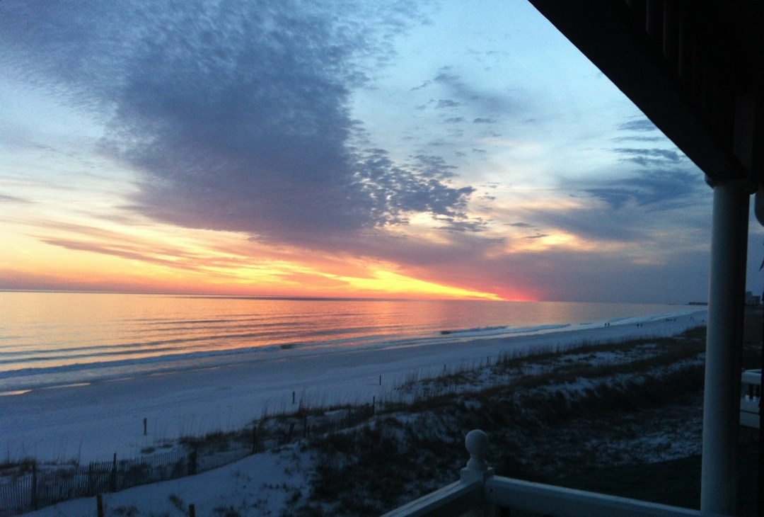 Sunset on the Emerald Coast.