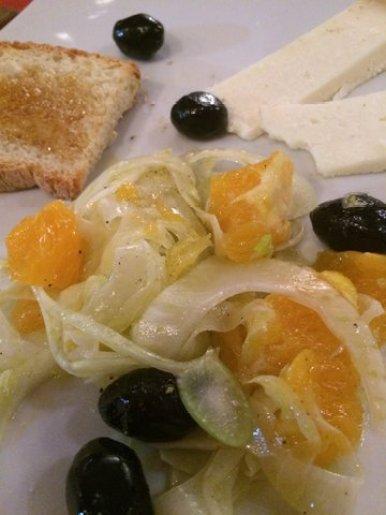 Insalata di finocchio, arancia e olive