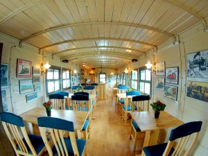 interior of the Train Café in Dalat, Vietnam