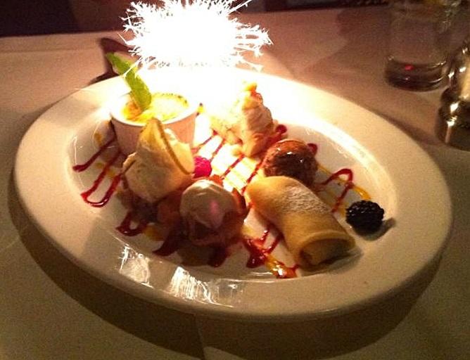 Sparkling desserts at Cuvee Bistro!