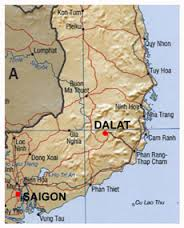 Map showing Dalat, Vietnam