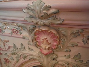 Porcelain stove detail from the Turnblad mansion