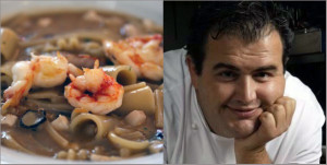 Chef Gennaro Esposito and his multi-pasta soup