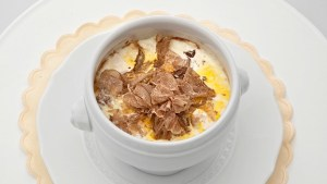 Renzo's signature dish: Eggs in Cocotte