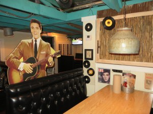 The Elvis booth in honor of his visit during his early years.