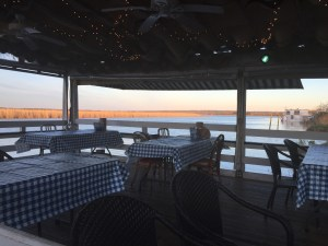 Tables overlooking Mobile Bay
