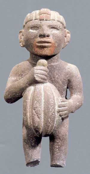 Aztec-holding-cacao