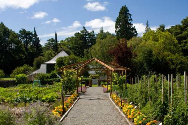 Potager Garden at Otahuna Lodge, Christchurch, New Zealand, where you'll be harvesting ingredients for your cooking lesson with Executive Chef Jimmy McIntyre.