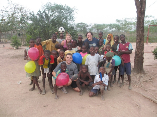 Volunteering with orphaned children at the House of Hope in Ghana