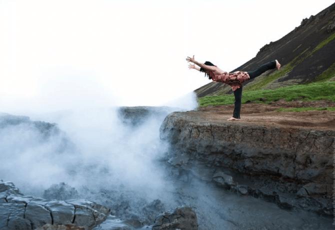 Hot springs yoga. Photo courtesy of YogaScapes.