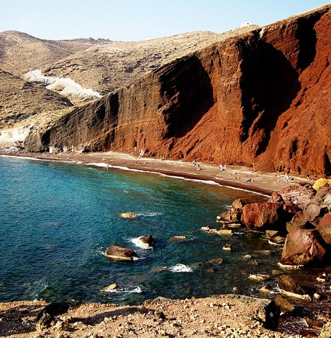 Red Beach Santorini, Greece.  Photo courtesy of