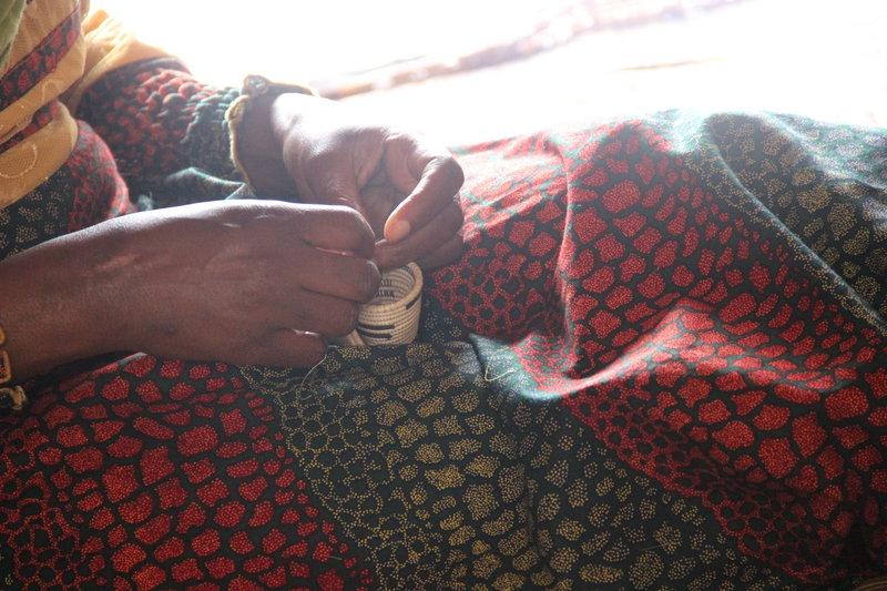 Making a small Agaseke basket