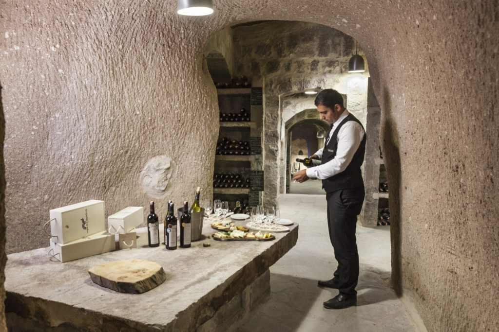 food in Turkey cave cellar