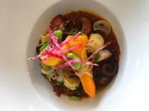 Bouchon | Ollioules | Poulpe rôti à l'huile d'olive, jus de bouillabaisse et son riz rouge de Camargue | www.epicuriendusud.com