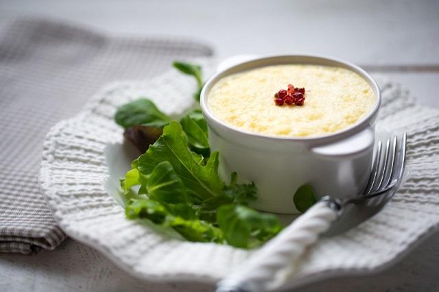 Flan de Saint Marcellin   Photo   F.Hamel – Une recette des Cercles Culinaires de France