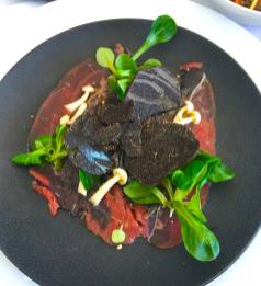 Hostellerie des Gorges de Pennafort・Callas (83) - Carpaccio de Boeuf - Photo : Jeremy Capitano