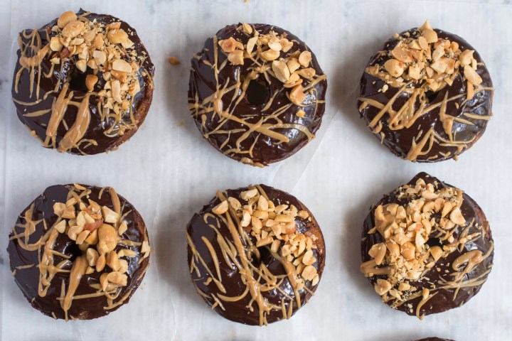 Banana Bread Donuts + Chocolate & Peanut Butter