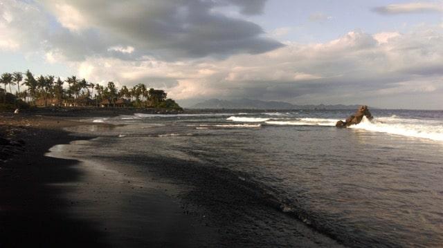 Black Sanur beach