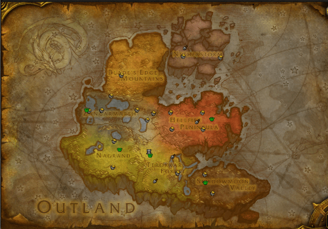 Outland Map world of warcraft
