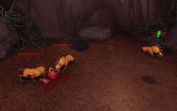 Blood-Stained Bone Farm Spot 2 - Vol'dun - Dustmane Howler