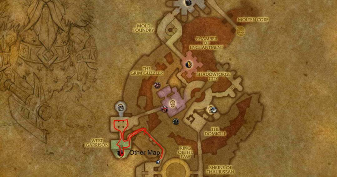 Blackrock Depths Shadowforge City Route