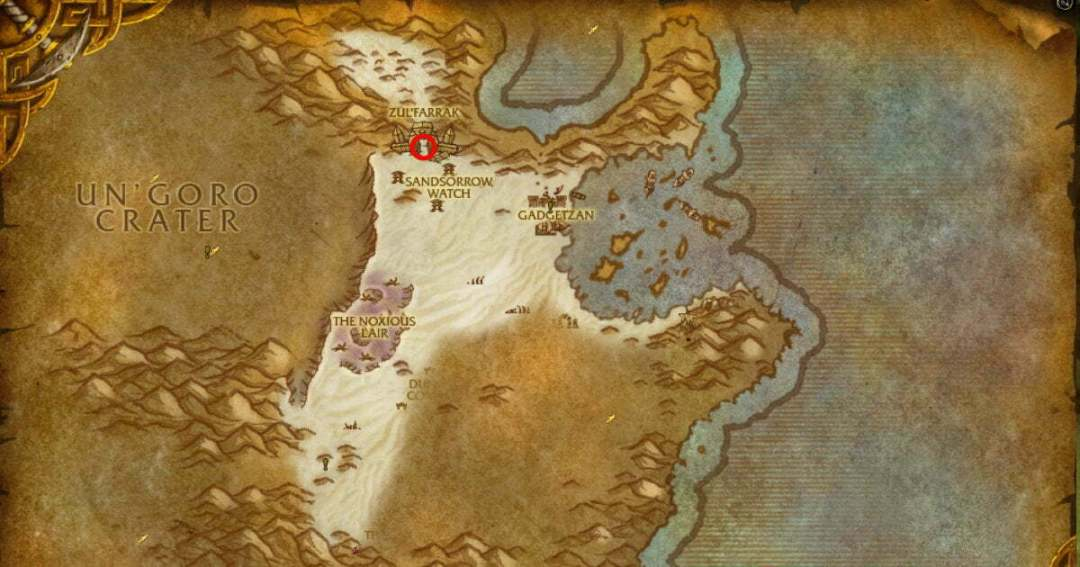 Zul'Farrak location map