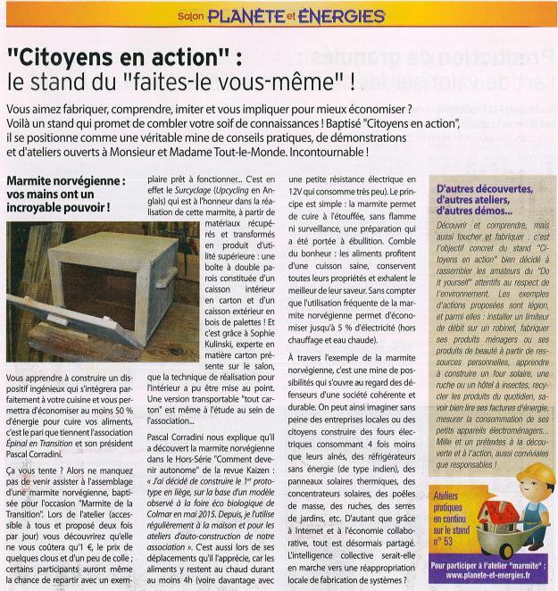 88Mag_Planète et énergies 2016_Citoyens en action
