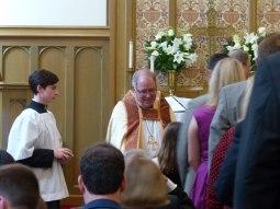 Bp Mayer at communion