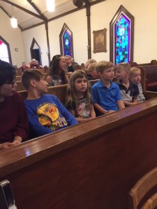 2017 Church children learning about St. Nicholaus