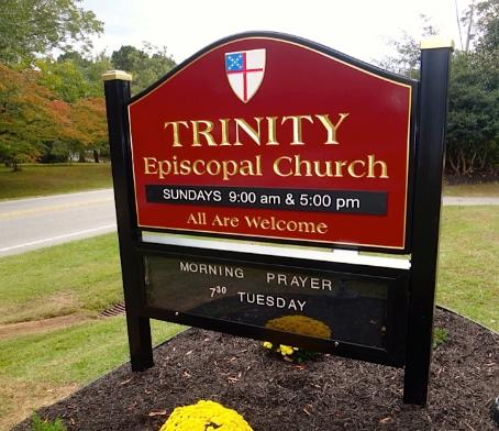 Sign for Episcopal Church  Episcopal Church Signs
