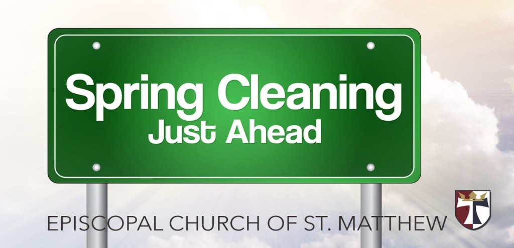 Church & School Cleanup, March 14 – CANCELED