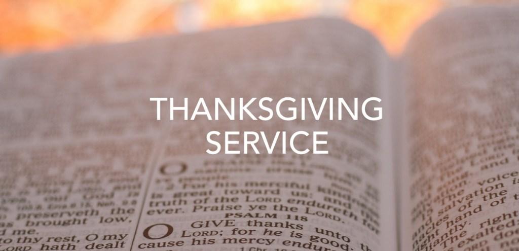 Thanksgiving Service Video