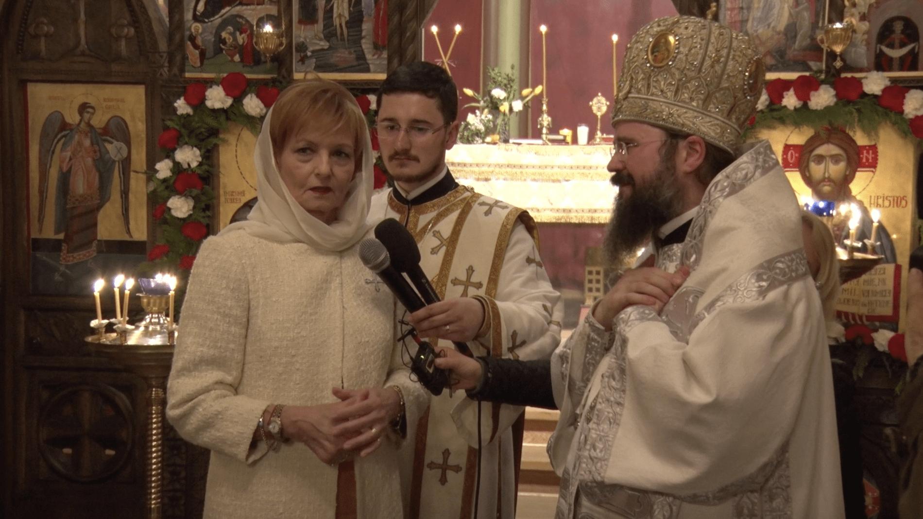 La Copenhaga, Preasfințitul Macarie a oferit Lumina Învierii Majestății Sale Margareta și românilor din comunitate