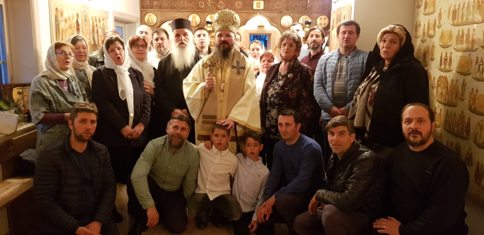 Father Damaskinos of the Grigoriou Monastery in Mount Athos visiting the Romanians in Sweden