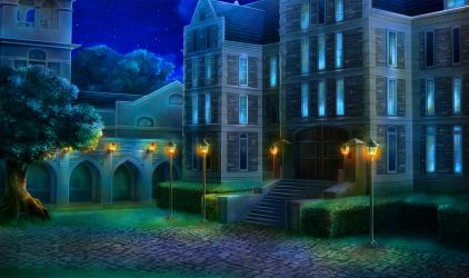 episode backgrounds night interactive anime hidden ext scenery background episodeinteractive schools street fantasy st int andrews castle sitting animation demi
