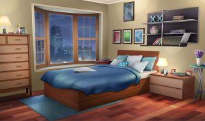 bedroom anime background night fancy apartment episode int backgrounds bed interactive bedrooms living episodeinteractive quarto cartoon decoracao wallpapers apartamento teen