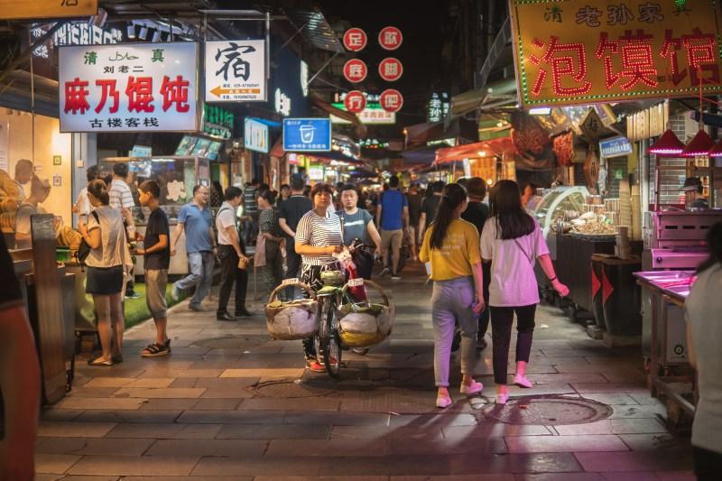 China Reiseroute Xi'an China Muslim Quarter Night Market-00848