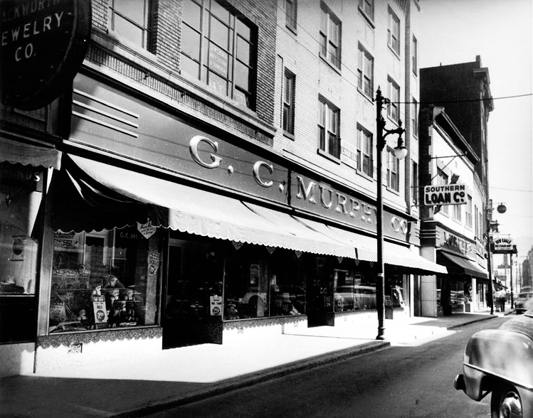 """The G.C. Murphy Building. The infamous """"Amour Club"""" was on the second floor."""