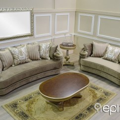 Versace Sofa White Leather Sectional Set Epixilon - Neoclassical Furniture > ...
