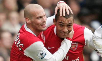 Gilberto Silva and Freddie Ljungberg