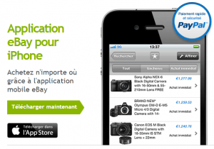 Application eBay pour iPhone