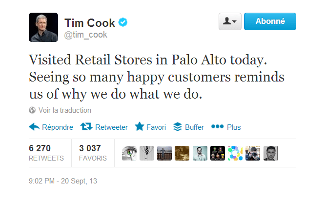 Twitter   tim_cook   Visited Retail Stores in Palo ...