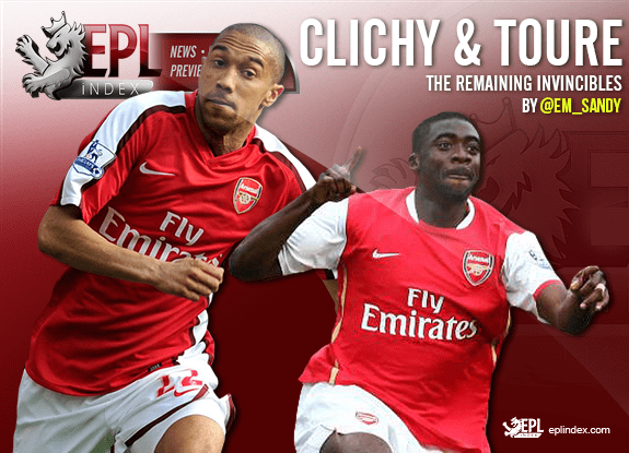 Toure Clichy Arsenal S Remaining Invincibles Epl Index Unofficial English Premier League Opinion Stats Podcasts
