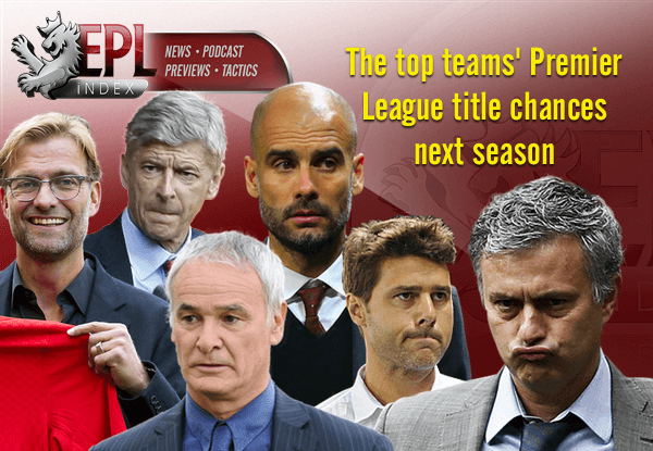 Top Teams Premier League Chances