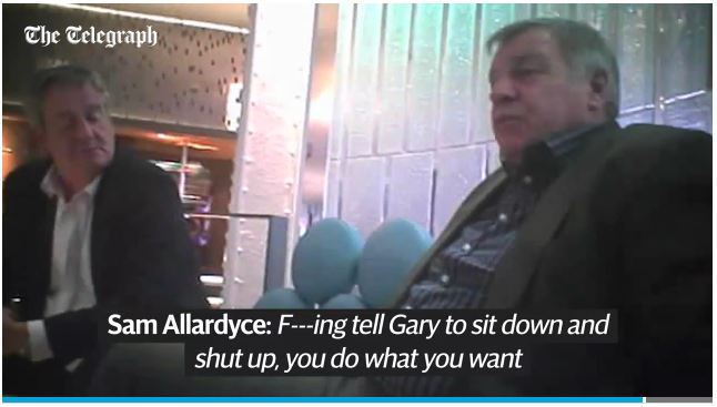 Sam Allardyce mock Roy and Neville