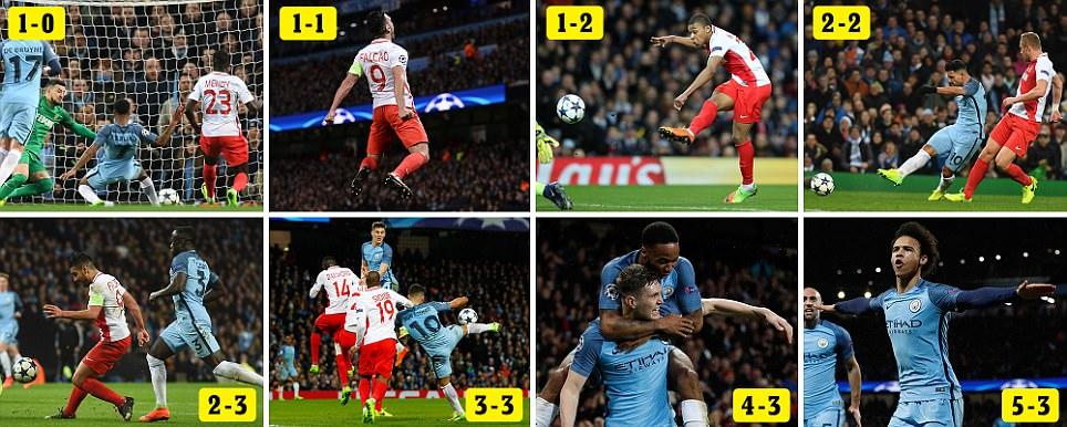 Man City 5 Monaco 3