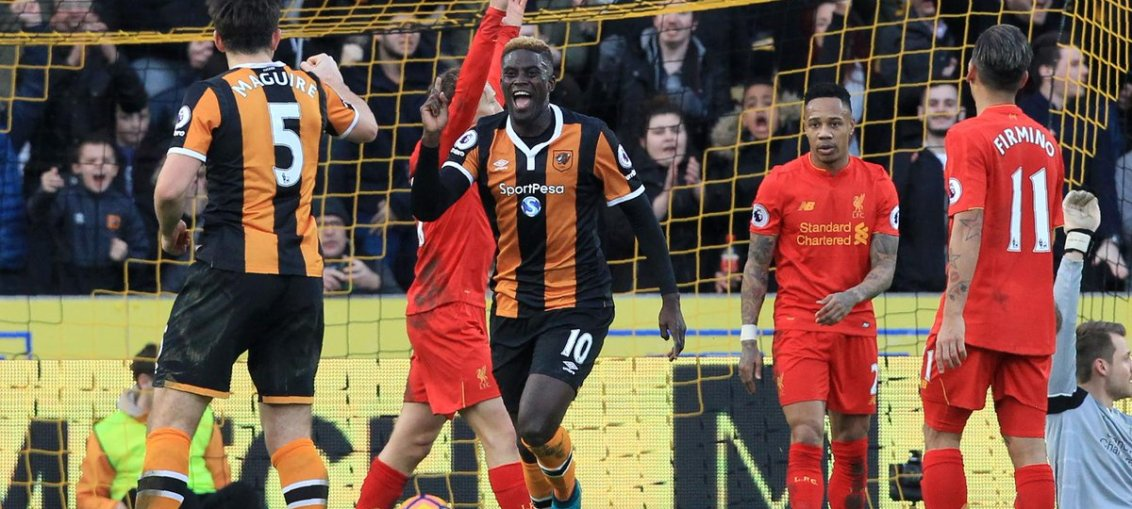 Hull 2 Liverpool 0
