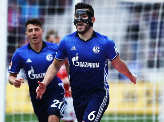 Kolasinac celebrate vs RB Leipzig